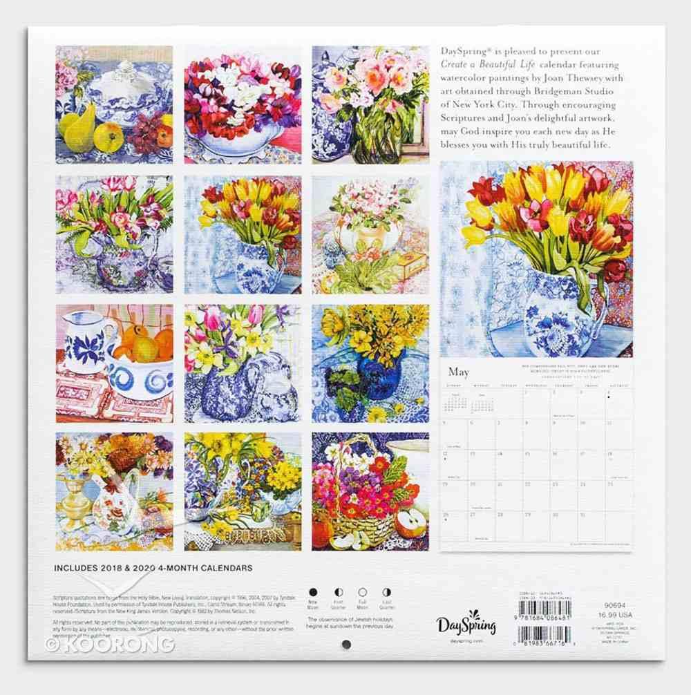 2019 Wall Calendar: Create a Beautiful Life Calendar