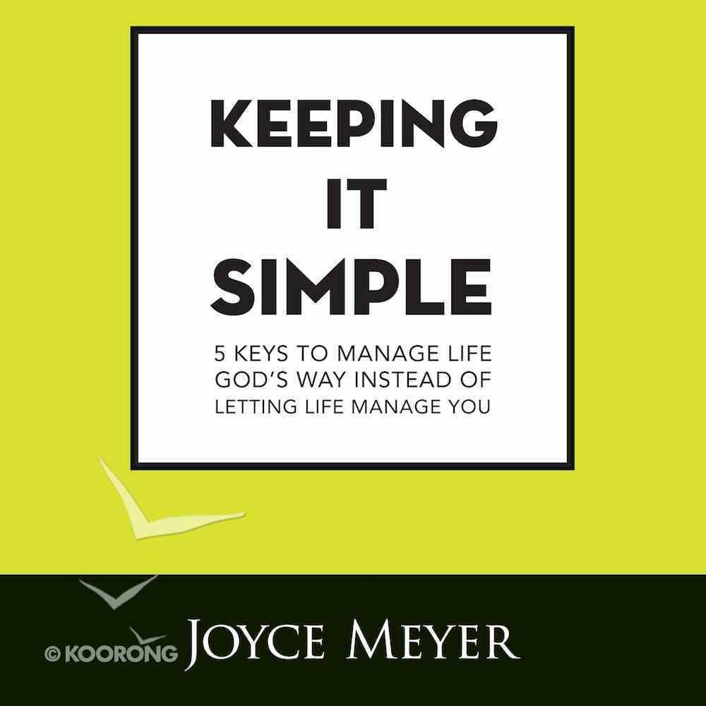 Keeping It Simple eAudio Book