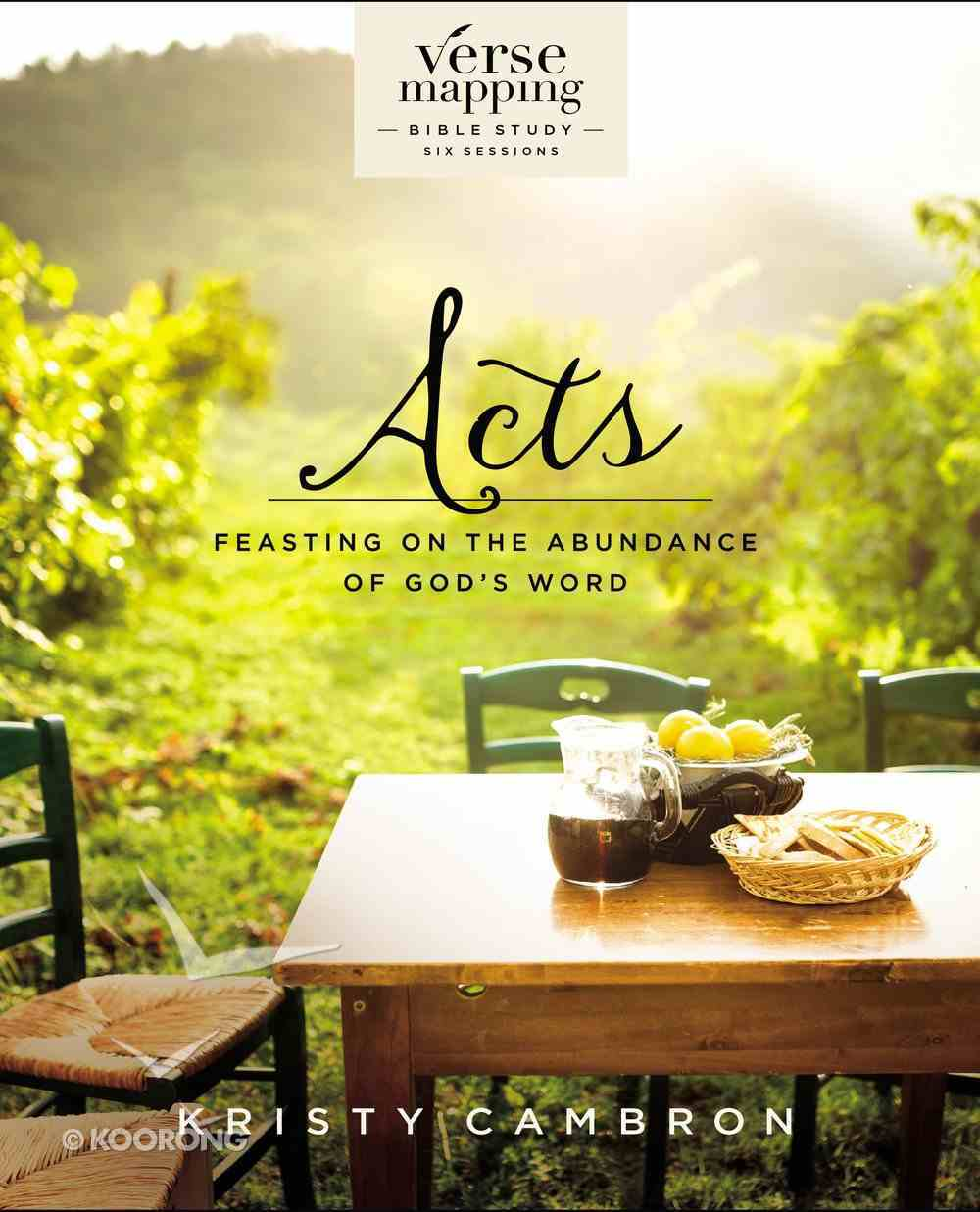 Verse Mapping Acts eBook