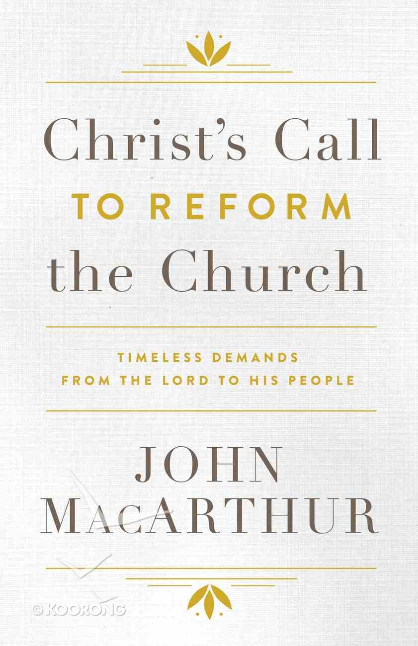 Christ's Call to Reform the Church eBook
