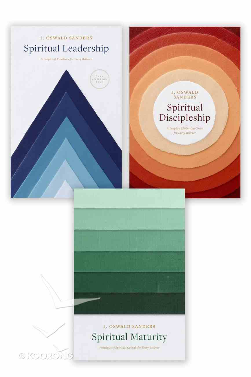 Spiritual Leadership, Spiritual Discipleship, Spiritual Maturity Set of 3 Sanders Books eBook