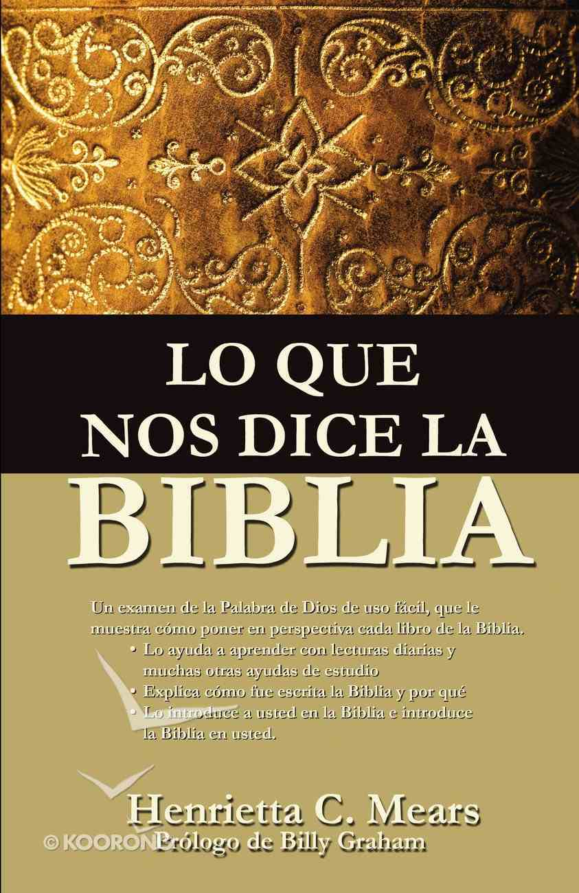 Lo Que Nos Dice La Biblia eBook
