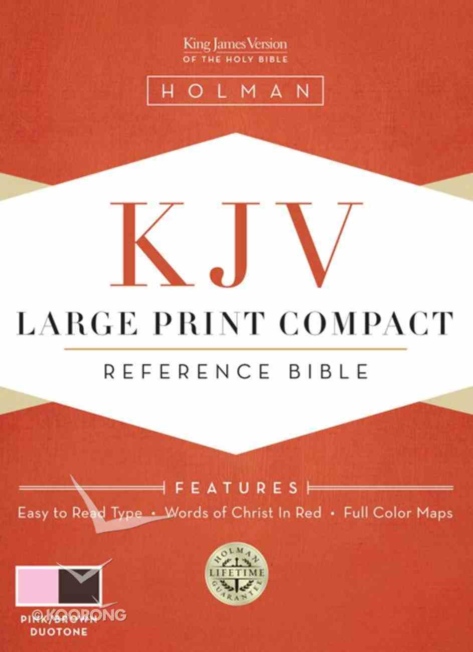 KJV Large Print Compact Bible Pink/Brown Imitation Leather