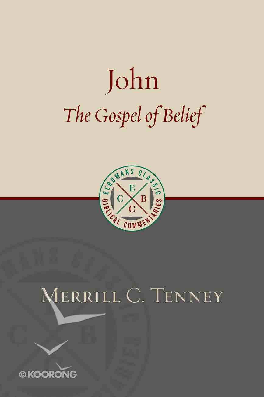 John: The Gospel of Belief (Eerdmans Classic Biblical Commentaries Series) Paperback