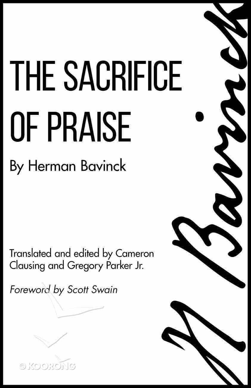 The Sacrifice of Praise Paperback
