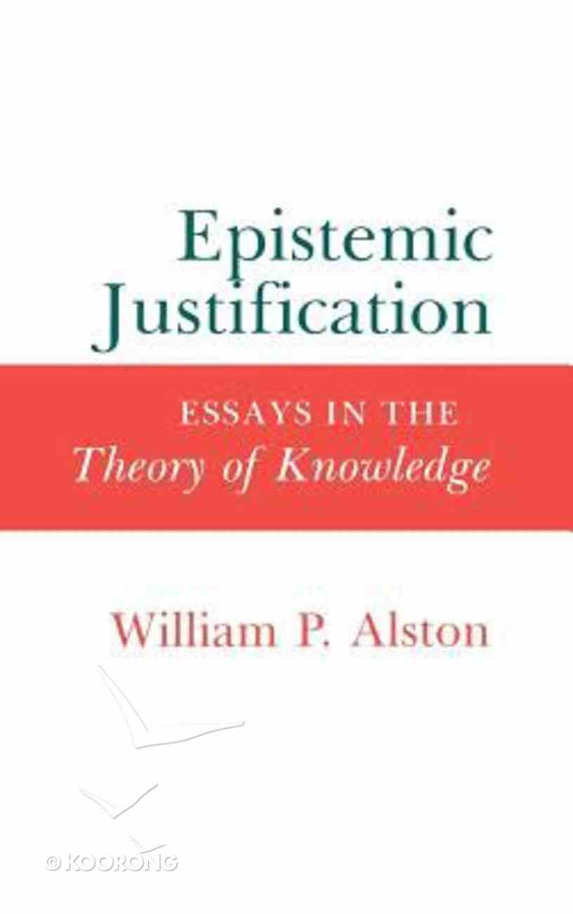 Epistemic Justification Hardback