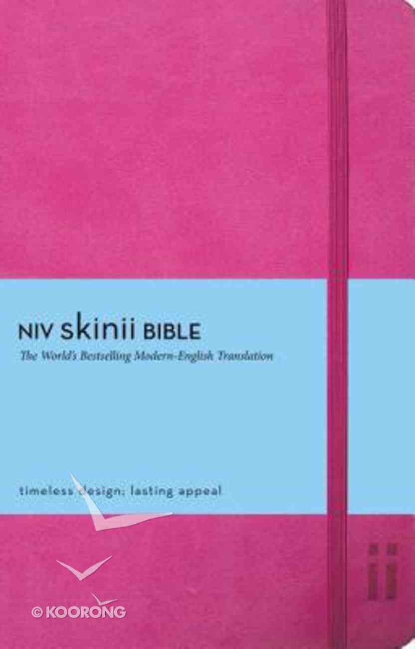 NIV Skinii Bible Italian Duo-Tone Pink (Red Letter Edition) Imitation Leather