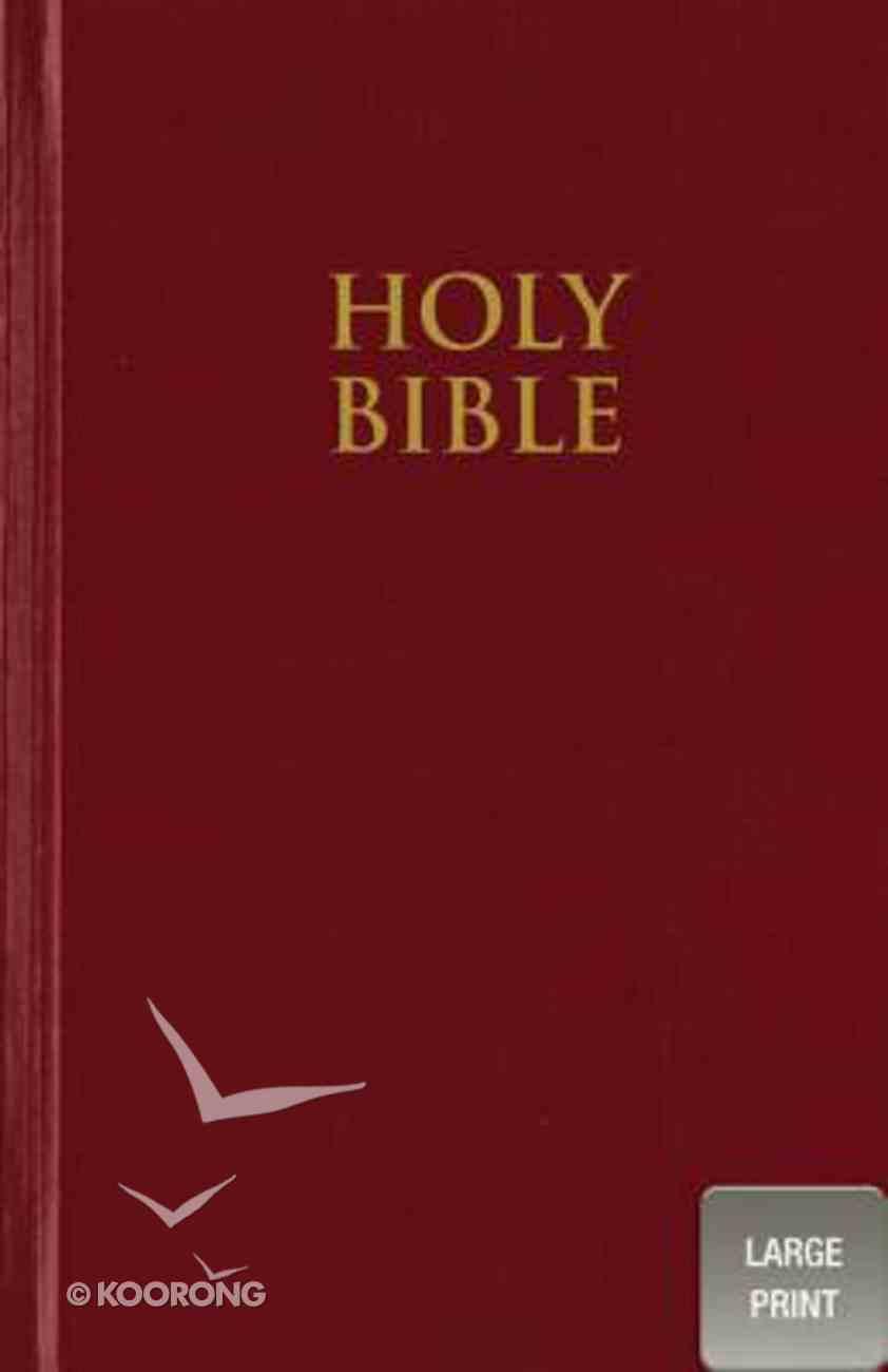 NIV Large Print Church Bible Red Formerly NIV Large Print Pew Bible (Black Letter Edition) Hardback