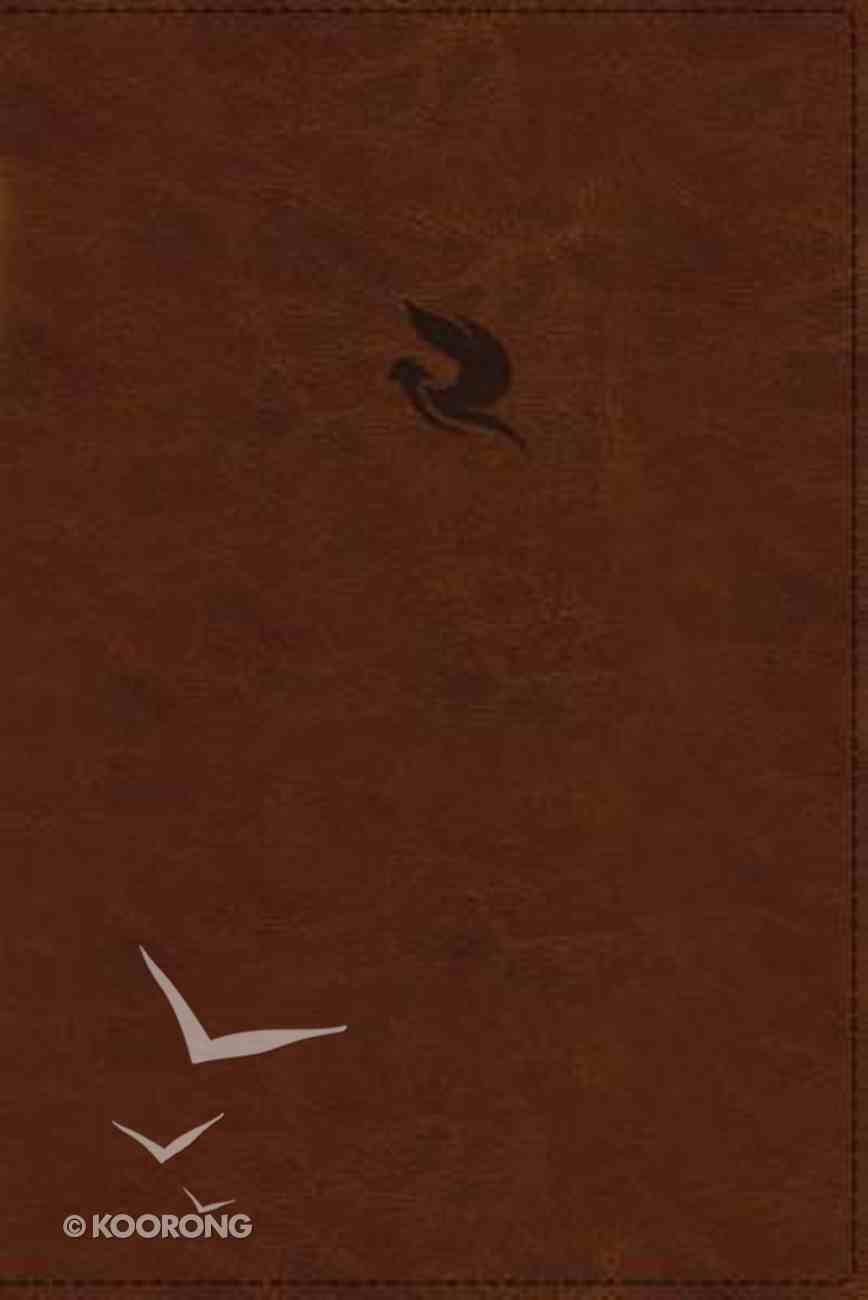 NKJV Spirit-Filled Life Bible Brown Indexed (Red Letter Edition) (Third Edition) Premium Imitation Leather
