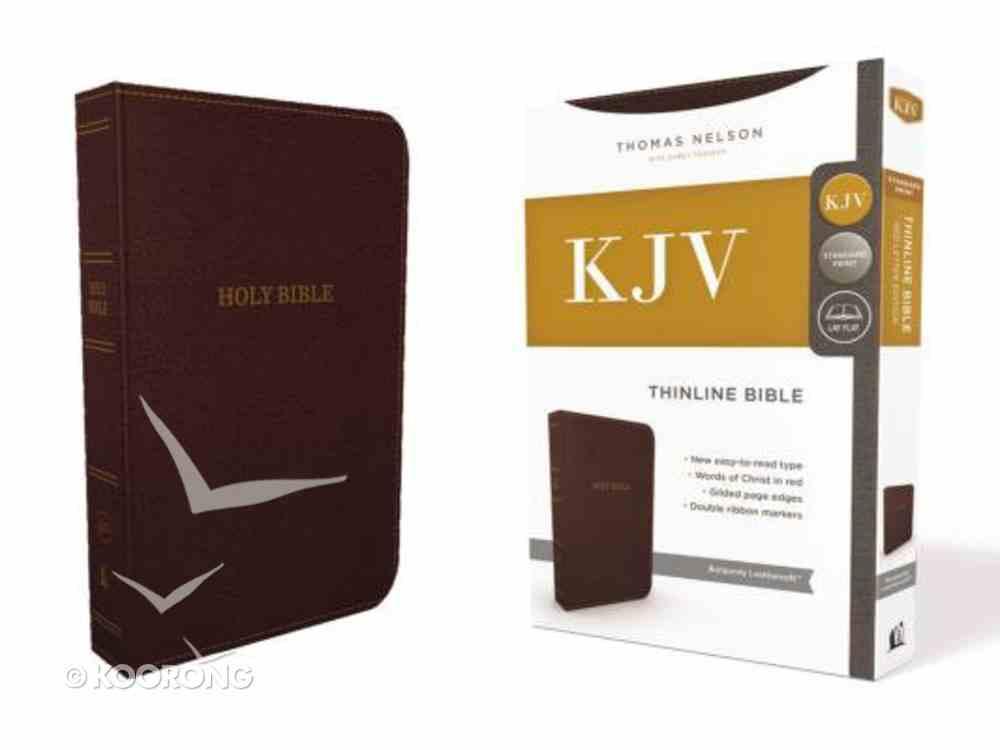 KJV Thinline Bible Burgundy (Red Letter Edition) Premium Imitation Leather