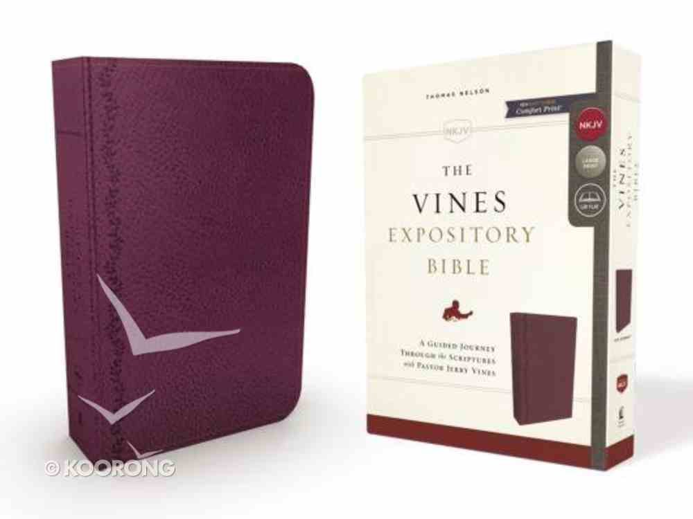 NKJV Vines Expository Bible Purple (Red Letter Edition) Imitation Leather