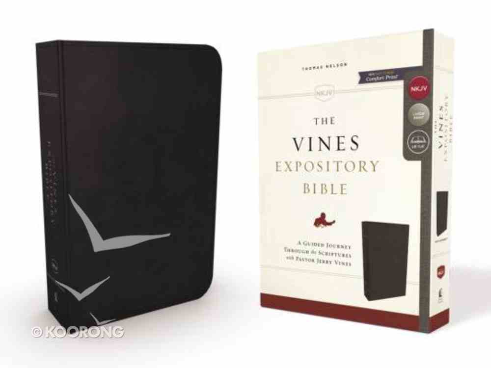 NKJV Vines Expository Bible Black (Red Letter Edition) Imitation Leather