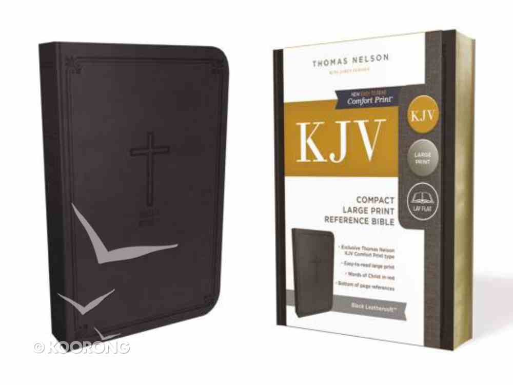 KJV Reference Bible Compact Large Print Black (Red Letter Edition) Premium Imitation Leather