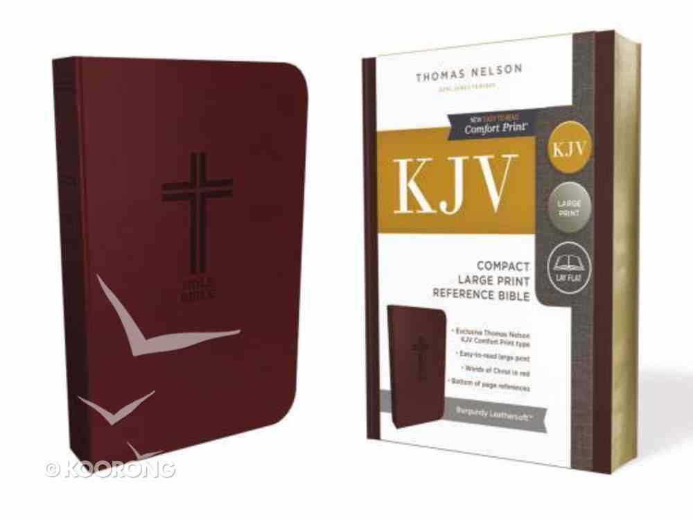KJV Reference Bible Compact Large Print Burgundy (Red Letter Edition) Premium Imitation Leather