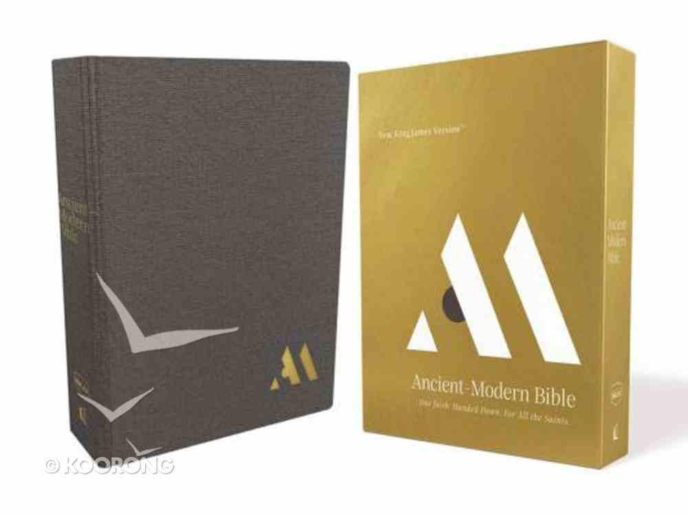 NKJV Ancient-Modern Bible Gray Hardback