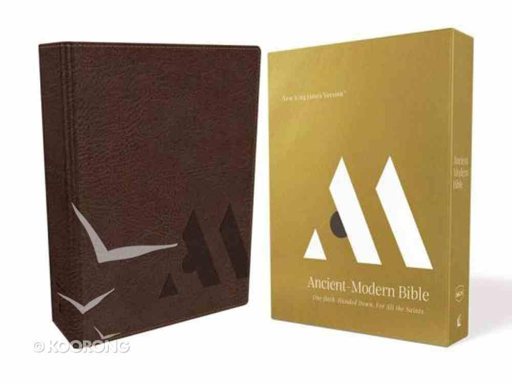 NKJV Ancient-Modern Bible Brown Imitation Leather