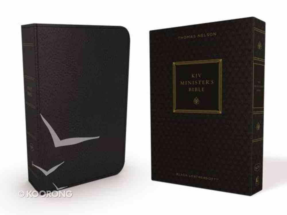 KJV Minister's Bible Black (Red Letter Edition) Premium Imitation Leather