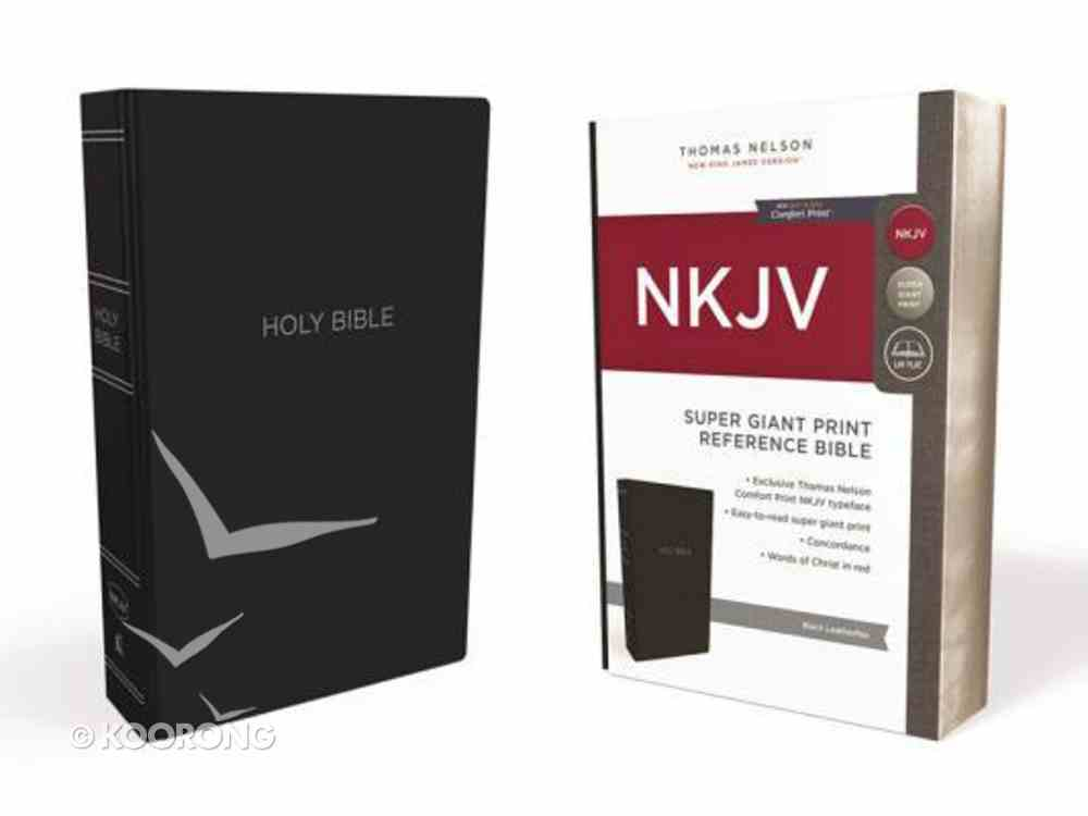 NKJV Reference Bible Super Giant Print Black (Red Letter Edition) Imitation Leather