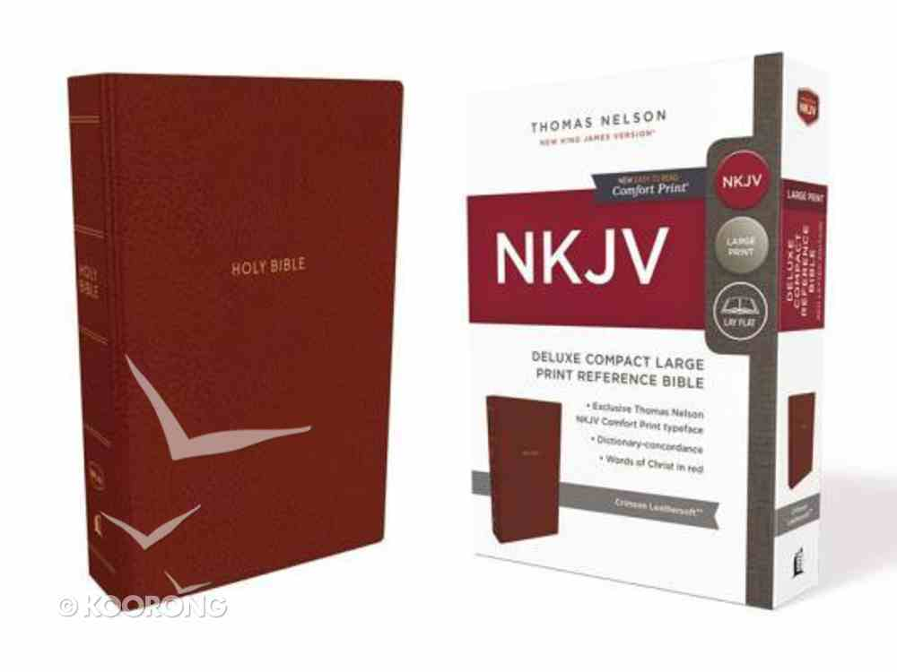 NKJV Deluxe Reference Bible Compact Large Print Red (Red Letter Edition) Premium Imitation Leather
