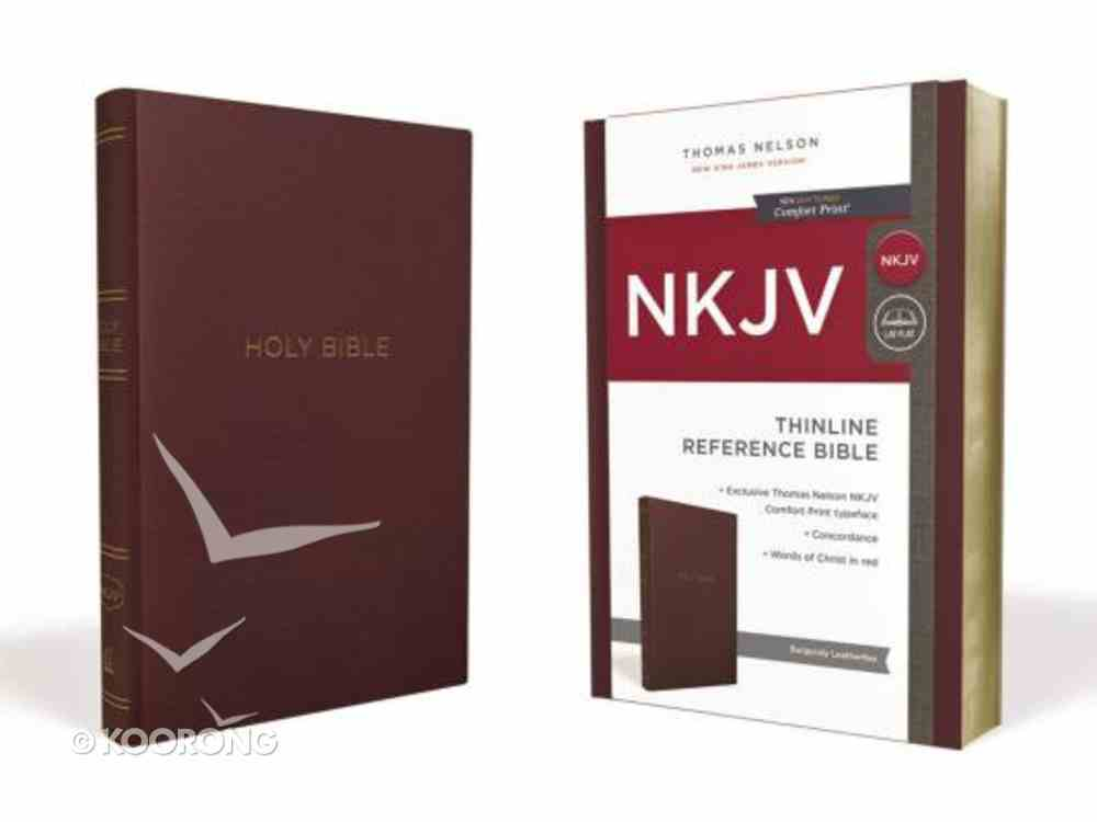 NKJV Thinline Reference Bible Burgundy (Red Letter Edition) Imitation Leather