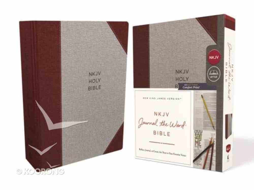 NKJV Journal the Word Bible Gray/Red (Red Letter Edition) Hardback