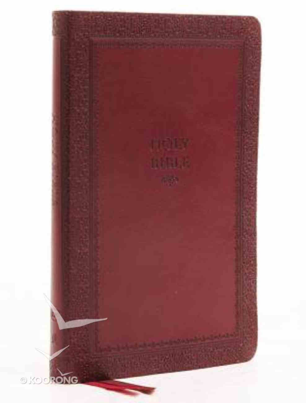 KJV Thinline Bible Red Indexed (Red Letter Edition) Premium Imitation Leather