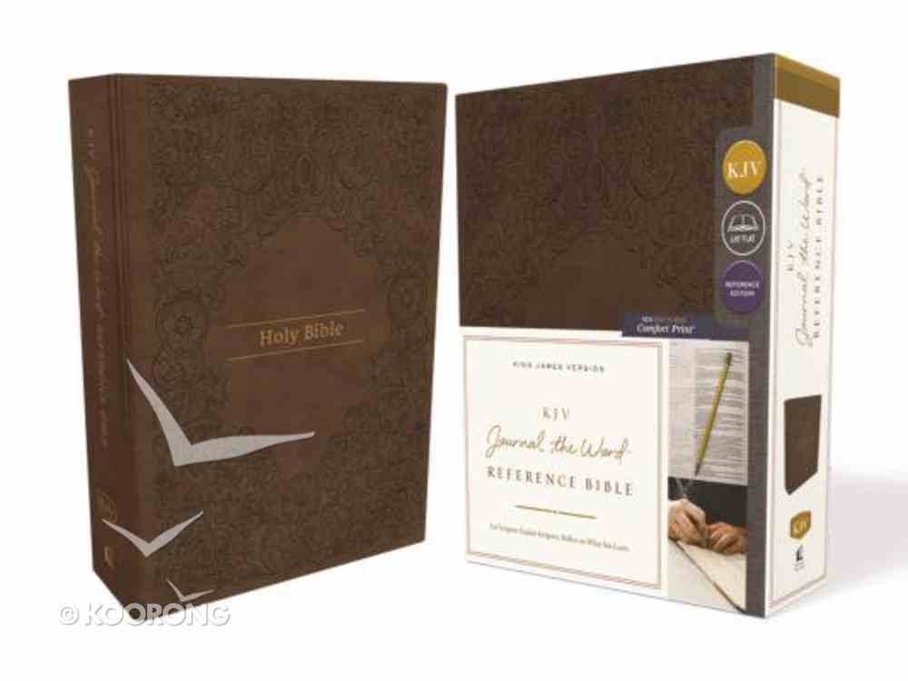 KJV Journal the Word Reference Bible Brown (Red Letter Edition) Imitation Leather