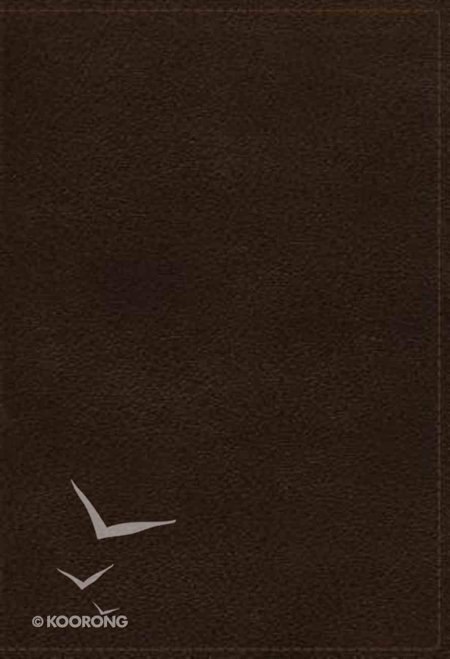 NKJV Study Bible Brown Full-Color Indexed (Black Letter Edition) Genuine Leather