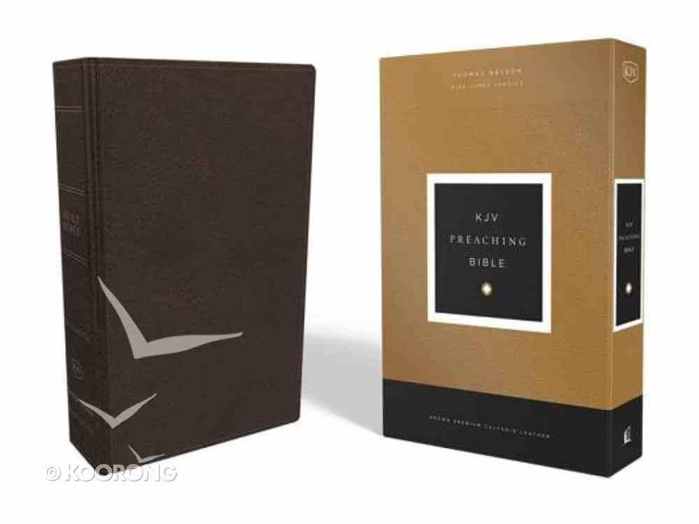 KJV Preaching Bible Brown Genuine Leather
