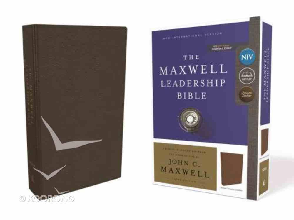 NIV Maxwell Leadership Bible Brown 3rd Edition Genuine Leather