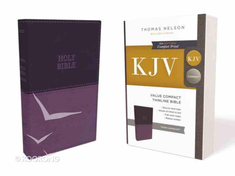 KJV Value Thinline Bible Compact Purple (Red Letter Edition) Premium Imitation Leather