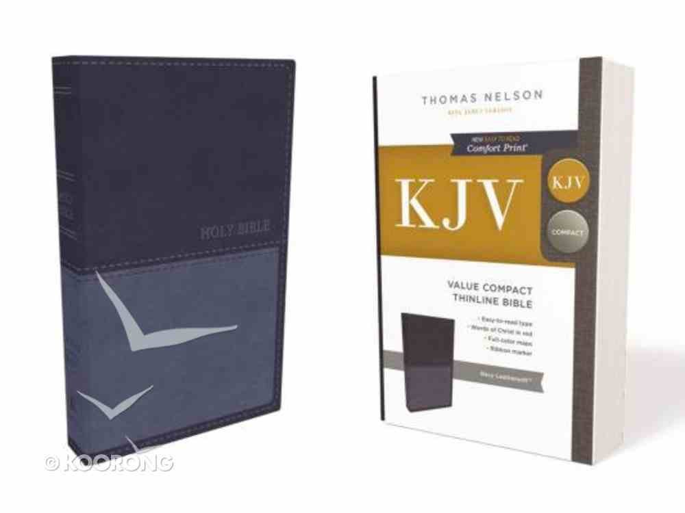KJV Value Thinline Bible Compact Blue (Red Letter Edition) Premium Imitation Leather