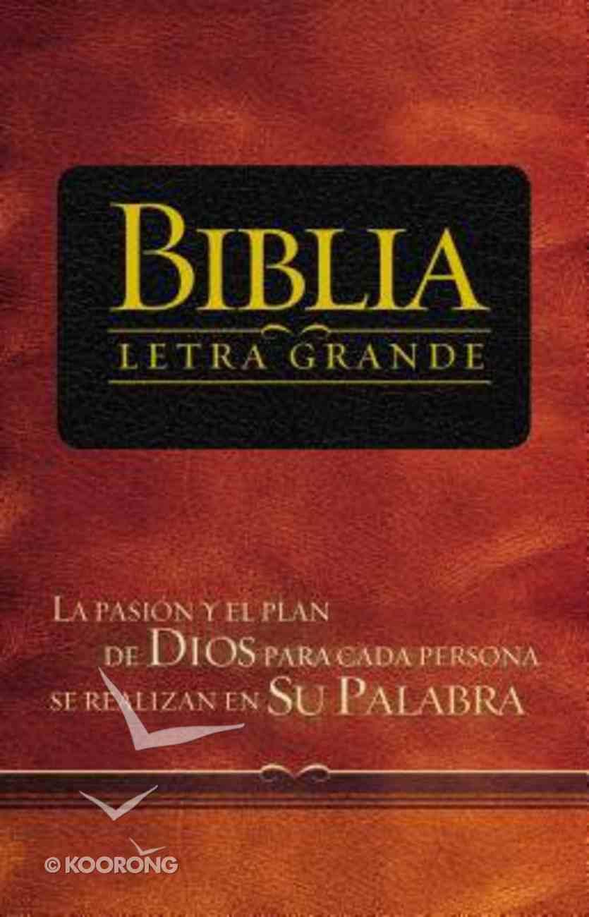 Rvr 1909 Biblia Letra Grande Black (Red Letter Edition) (Spanish) Premium Imitation Leather