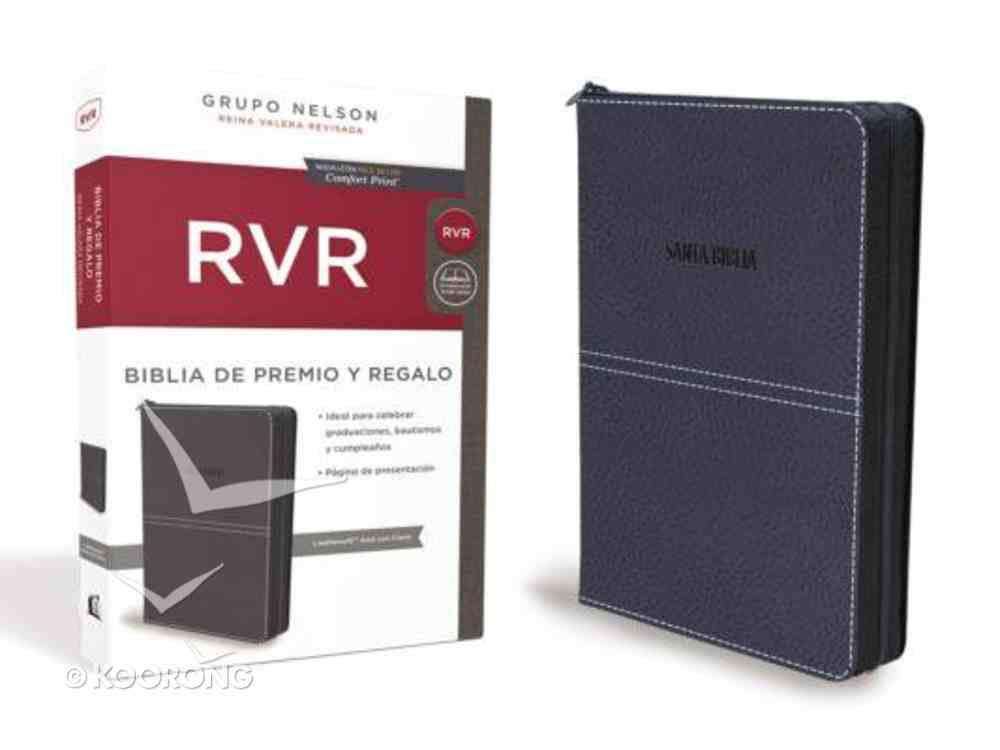 Rvr Biblia De Premio Y Regalo Azul Premium Imitation Leather