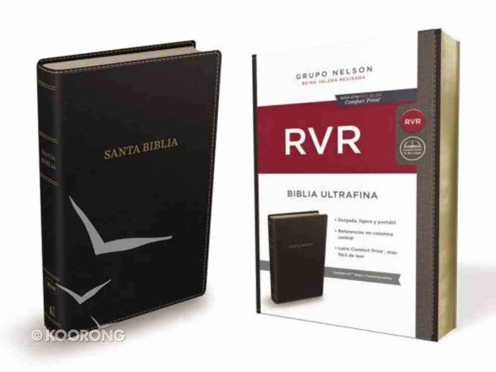 Rvr Santa Biblia Reina Valera Revisada Ultrafina Negra Contemporanea Imitation Leather