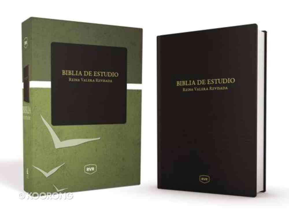Rvr Santa Biblia De Estudio Reina Valera Revisada Negro Clasico Imitation Leather