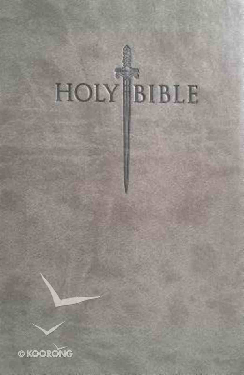 Kjver Sword Value Thinline Bible Large Print Grey (Red Letter Editon) Imitation Leather