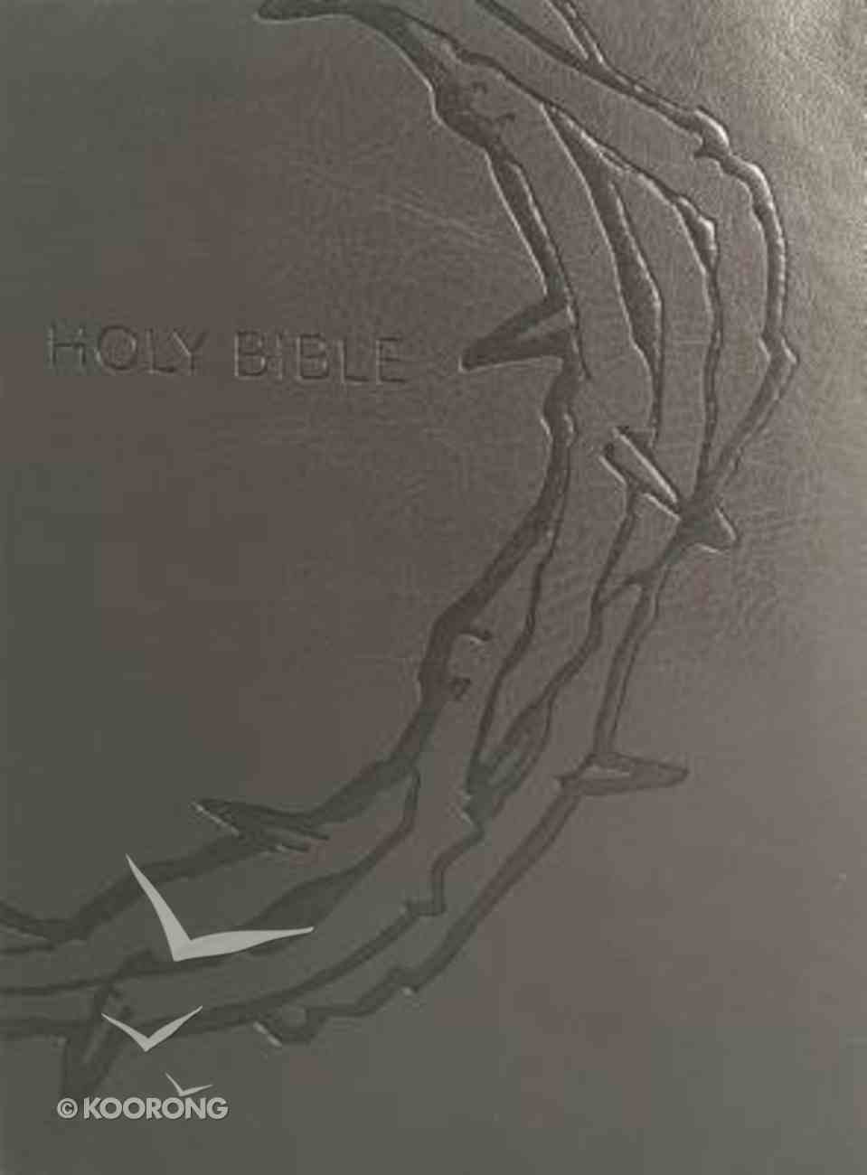 Kjver Sword Study Bible Personal Size Large Print Designer Charcoal Ultrasoft Crown of Thorns (Red Letter Edition) Imitation Leather