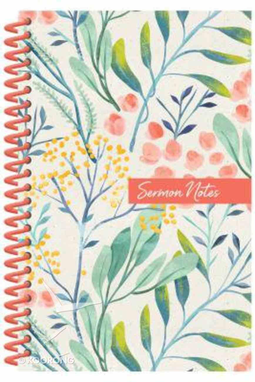 Sermon Notes Journal, Floral Spiral