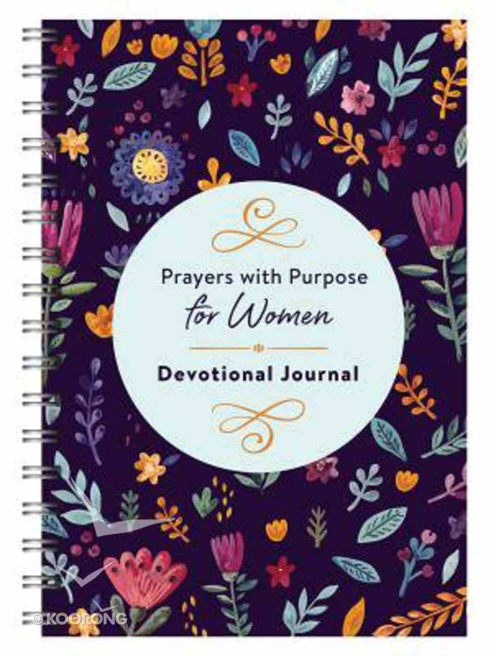 Prayers With Purpose For Women Devotional Journal Spiral