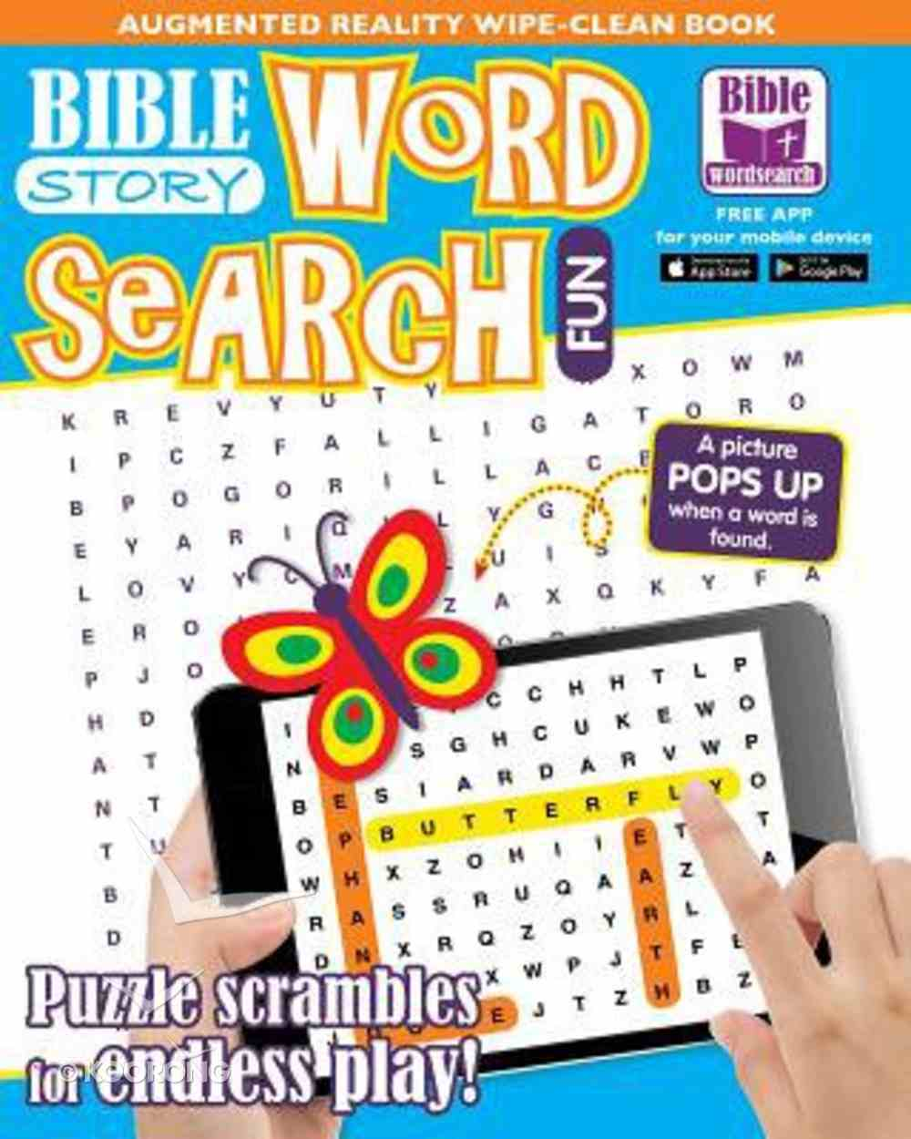 Bible Story Word Search Fun: An Augmented Reality Wipe-Clean Book Paperback