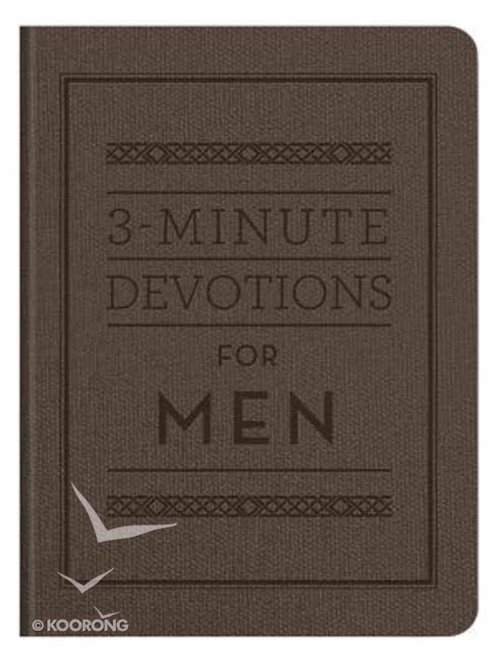 3-Minute Devotions For Men (3 Minute Devotions Series) Flexi Back