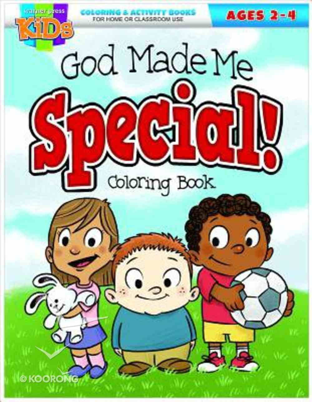 God Made Me Special (Ages 2-4, Reproducible) (Warner Press Colouring/activity Under 5's Series) Paperback