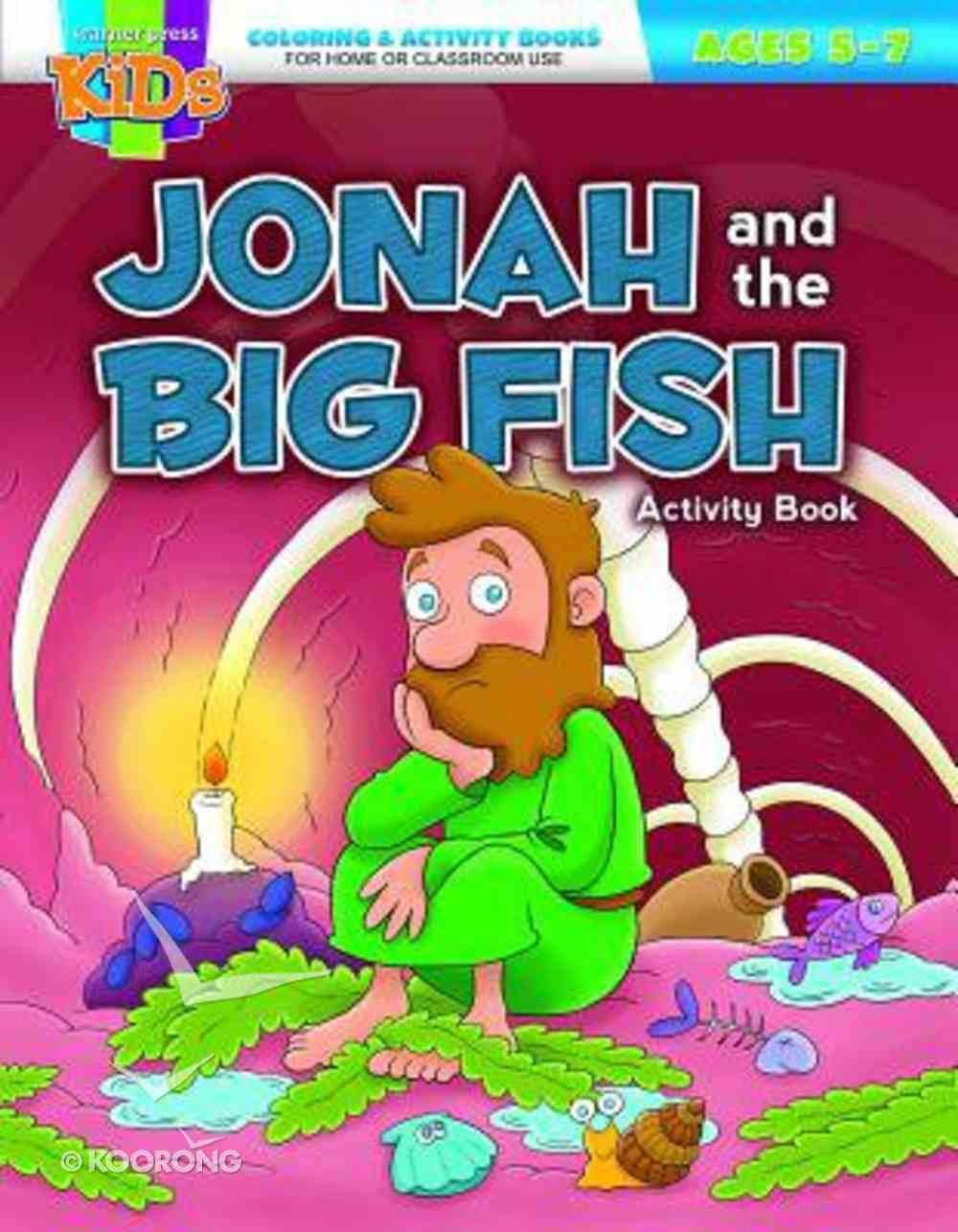 Jonah and the Big Fish (Ages 5-7, Reproducible) (Warner Press Colouring & Activity Books Series) Paperback