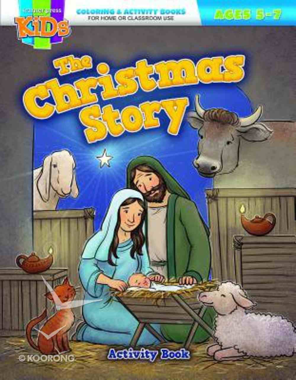 The Christmas Story (Ages 5-7, Reproducible) (Warner Press Colouring & Activity Books Series) Paperback