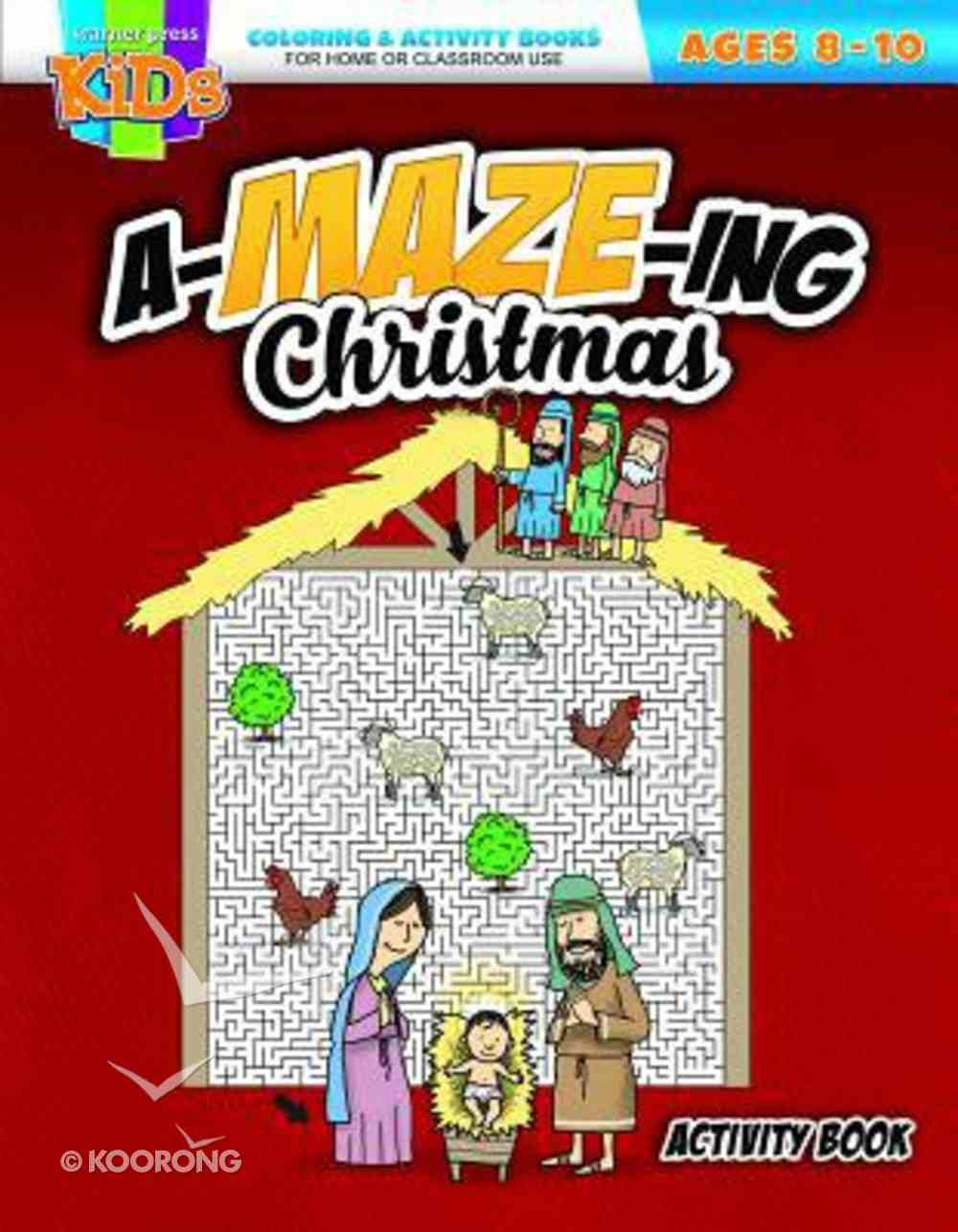 An A-Maze-Ing Christmas (Ages 8-10, Reproducible) (Warner Press Colouring & Activity Books Series) Paperback