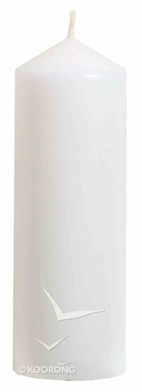 Powerlite Hand Moulded Round Pillar Candle 150mm/54Mm White Homeware