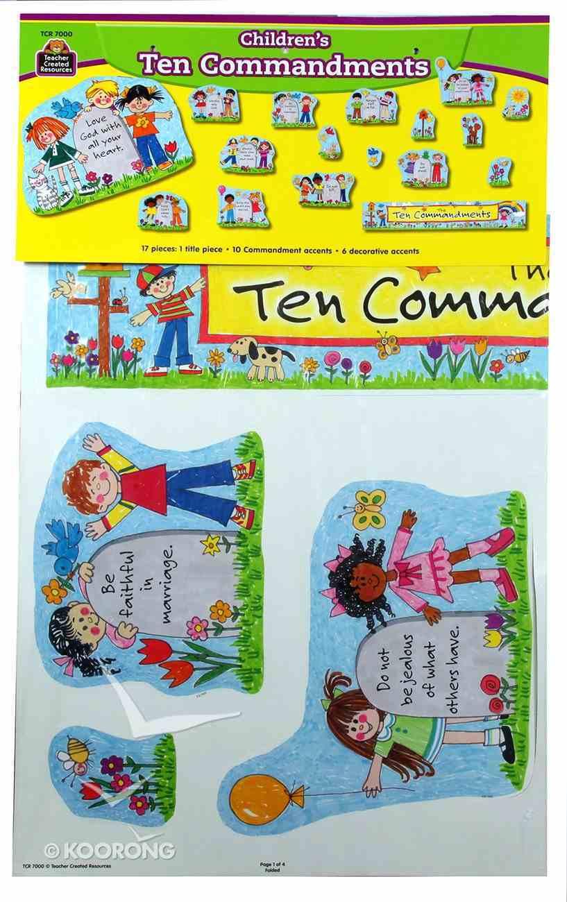 Bulletin Board Set: Children's Ten Commandments Pack
