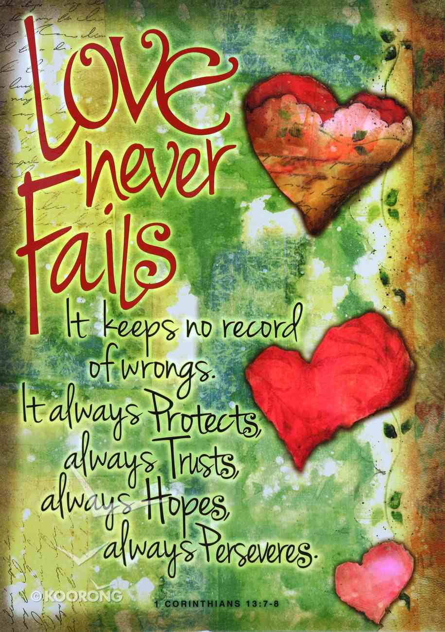 Poster Large: Love Never Fails (Hearts) Poster