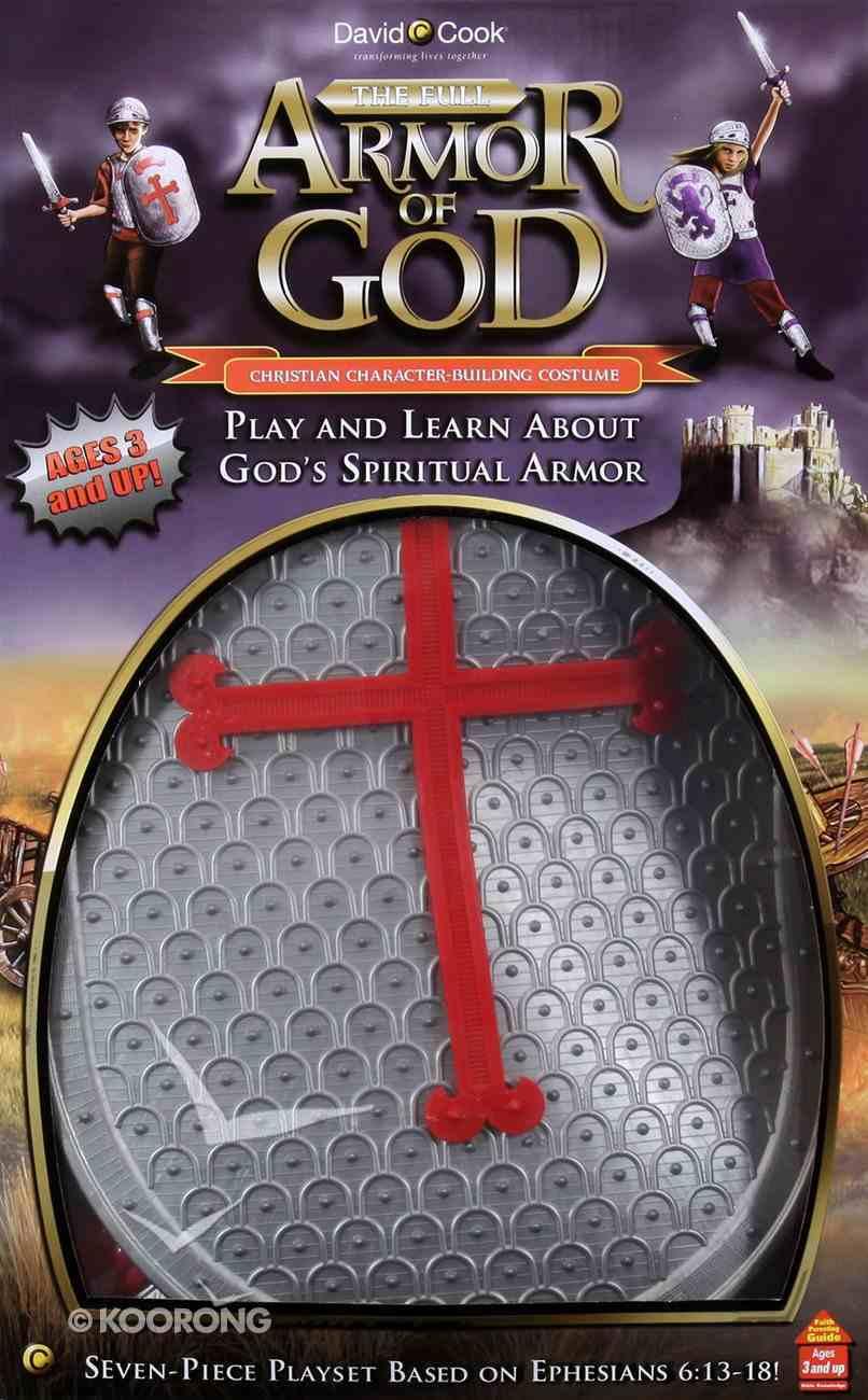 Full Armor of God Playset Costume (Silver & Red) Plastics